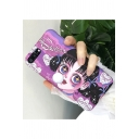 Cartoon Comic Girl Printed Soft Polish Purple iPhone Case