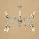 Iron Abstract Multi Arm Chandelier Retro Style 12/16 Bulbs Decorative Hanging Light Fixture