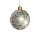 Orb Shade Hanging Light Fixture Nordic Style Shelly 1 Head Decorative Pendant Light in Brass