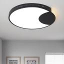 Acrylic Moon Shade Flush Light Contemporary LED Ceiling Flush Mount in Warm/White for Restaurant