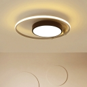 Black and White Circular Flush Mount Light Nordic Style Acrylic LED Flushmount for Sitting Room