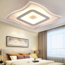 Modern Fashion Ultrathin Flush Light Acrylic LED Ceiling Fixture in Warm/White for Sitting Room