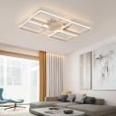 White Oblong Shape Flushmount Modern Design Acrylic Surface Mount LED Light for Hotel Hall