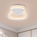 Triangle Surface Mount LED Light Monochromatic Stylish Acrylic Ceiling Light in White for Bedroom