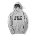 Harry Potter Popular Letter DOBBY IS FREE Basic Casual Loose Drawstring Hoodie