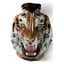 Cool 3D Tiger Printed Long Sleeve Sport Casual Drawstring Hoodie