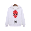 Unique Spider-Man Pattern Basic Long Sleeve Cotton Casual Hoodie