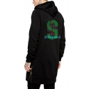 Hip Hop Style Snake Logo Letter KEEP CALM AND WATCH RIVERDALE Zip Side Long Black Hoodie