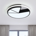 Acrylic Geometric Ceiling Lamp Modern Design LED Flush Mount in Warm/White for Restaurant