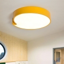 Acrylic LED Flush Light with Comma Symbol Letters&Numbers Blue/Yellow Ceiling Light for Kids