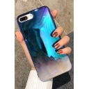 Fashion Ombre Galaxy Sar Moon Unique Blue iPhone Case
