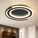 Acrylic Round Shade Ceiling Lamp Modernism Decorative LED Flush Mount in Warm/White