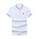 Summer Fashion Contrast Tipped Short Sleeve Men Cotton Logo Polo Shirt