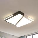 Black and White Trapezoid Flush Light Modern Fashion Acrylic LED Indoor Lighting Fixture