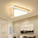 Triangle Acrylic Shade LED Ceiling Light Contemporary Flush Light in Warm/White for Porch