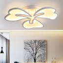 Petal Design Lighting Fixture Contemporary Metal 3/4/5 Lights LED Ceiling Light in Warm/White/Neutral