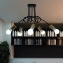 Gold Finish Twist Lamp Light Industrial Modern Metallic 3/5/6 Heads Suspended Light