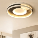 Donut LED Flush Mount Contemporary Metal Ceiling Fixture in Warm/White for Foyer Hallway