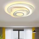 Circular LED Ceiling Lamp Contemporary Stylish Acrylic Semi Flush Mount Light for Sitting Room