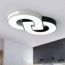 Ultrathin LED Flush Mount with Geometric Pattern Nordic Style Metal Surface Mount Ceiling Light