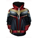 3D Fashion Printed Cosplay Costume Loose Sport Drawstring Hoodie