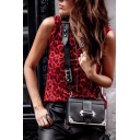 Summer Fashion Leopard Printed Sleeveless Round Neck Tank Top