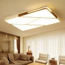 Geometric Pattern Ceiling Flush Mount Simple Nordic Style Acrylic LED Flush Light in Warm/White