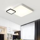 Square LED Flushmount Minimalist Modern Metal Surface Mount Ceiling Light in Warm/White