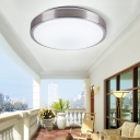 Acrylic Bowl Ceiling Lamp Minimalist Concise LED Flush Light Fixture in Warm/White for Office