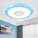 Geometric Ceiling Fixture with Colorful Plastic Lampshade Modern Design LED Flush Mount