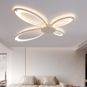 Butterfly LED Ceiling Light Minimalist Nordic Style Acrylic Semi Flush Mount in Warm/White/Neutral