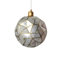 Modern Chic Sphere Suspended Light Shelly Single Light Lighting Fixture in Brass for Staircase