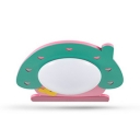 Cartoon House LED Wall Mount Fixture Green and Pink Wooden Wall Lamp for Children Bedroom