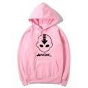 Comic Character Letter Print Unisex Loose Casual Pullover Hoodie