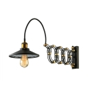 Antique Black Gold Jade 1 Light LED Wall Sconce in Greek Scissor Design
