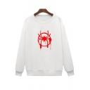 Basic Round Neck Long Sleeve Popular Print Loose Fit Pullover Sweatshirt
