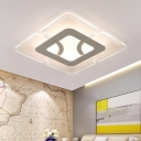 Super-thin Flush Light Contemporary Acrylic Ceiling Flush Mount in Integrated LED for Living Room