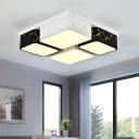 Modernism Blocks LED Ceiling Light with Geometric Design Metal Flush Light Fixture in Warm/White