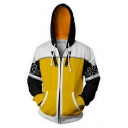 Kingdom Hearts Long Sleeve Comic Cosplay Costume Loose Fit Zip Up Drawstring Hoodie