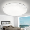 Contemporary Ultra Thin LED Flushmount Acrylic LED Flush Mount Light in White for Living Room