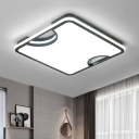 Acrylic Jigsaw Flush Light with Square Frame Nordic Style LED Ceiling Fixture in Warm/White