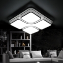 Geometric LED Flushmount with Acrylic Shade Modern Stylish Art Deco Flush Light Fixture in Black