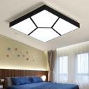 Black Geometric Pattern Flushmount Modernism Concise Decorative Acrylic Surface Mount LED Light