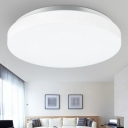 Acrylic Bowl LED Ceiling Lamp Simplicity Modern Flush Light in White for Restaurant Corridor