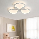 3/5 Heads Leaf LED Ceiling Lamp with Acrylic Shade Modern Indoor Lighting in Warm/White/Neutral