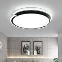 Modern Design Round Ceiling Light Acrylic Shade LED Lighting Fixture in Warm/White for Corridor