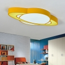 Acrylic Planet LED Flush Light Colorful Nursing Room Bedroom Eye Protection Ceiling Fixture