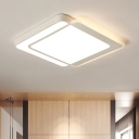 Acrylic Geometric Shape Ceiling Lamp Contemporary LED Flush Light Fixture in Warm/White/Neutral