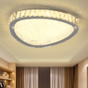 Modern Fashion Triangle Ceiling Lamp Modern Fashion Decorative Crystal LED Flush Light Fixture