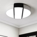Round LED Flushmount Modern Chic Acrylic Shade Decorative Flush Mount Lighting in Warm/White